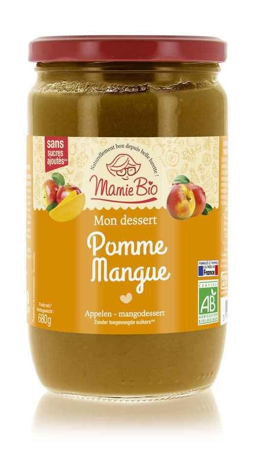 puree-de-pomme-france-mangue-bio-680g