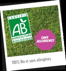 100% bio sans allergène