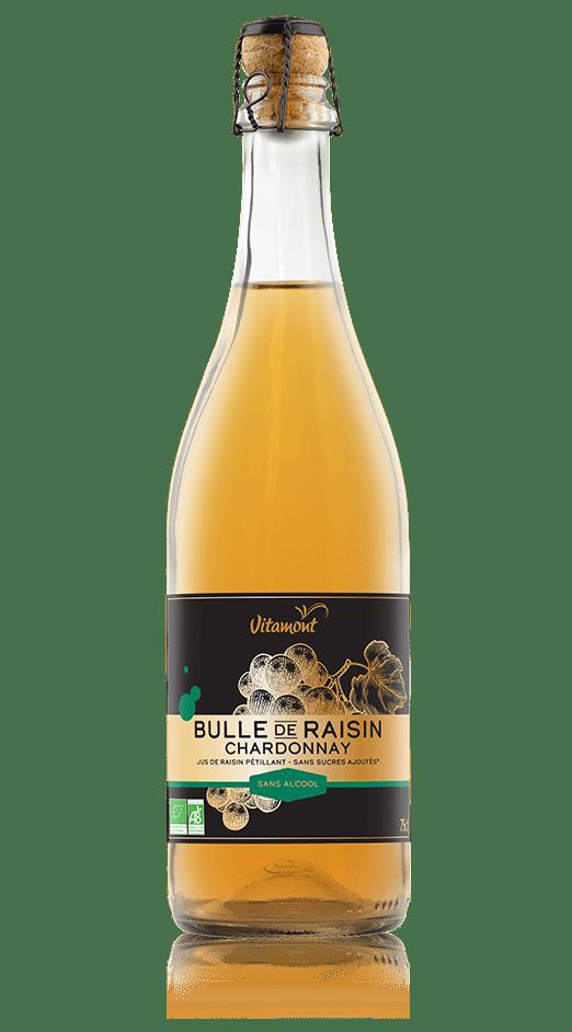 Pétillant de raisin bio sans alcool